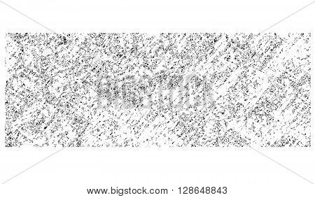 pencil hatched background in white over black