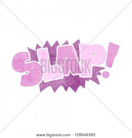 freehand retro cartoon slap symbol