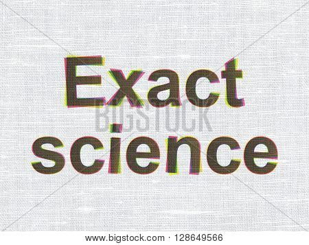 Science concept: CMYK Exact Science on linen fabric texture background