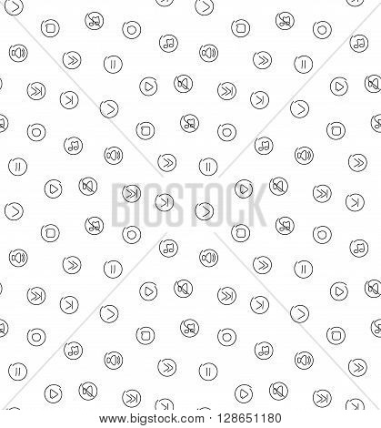 Sound voice multimedia seamless pattern. Vector illustration. EPS 10.