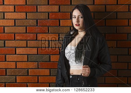 Young Woman Against A Wall