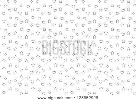 Favorite stars and hearts seamless background. Vector illustration. EPS 10.