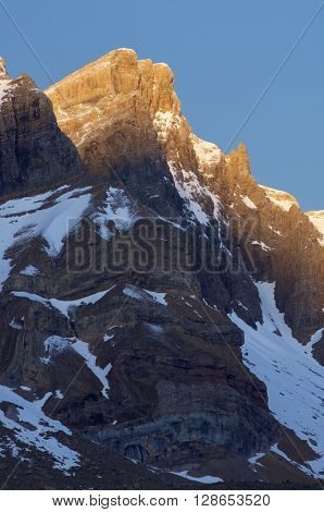 Triptico Peak (2612 m.), Partacua Mountains, Tena Valley, Pyrenees, Huesca, Aragon, Spain.