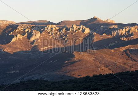 herrera Mountains in Moncayo Natural Park, Zaragoza, Aragon, Spain.