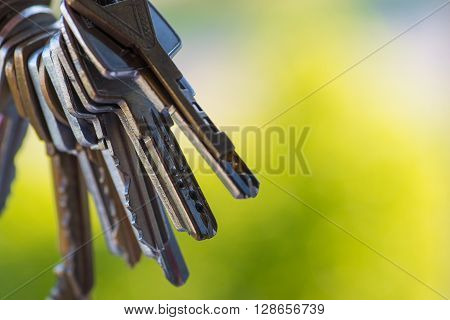 A Bunch Of Vintage Keys Over The Open Window
