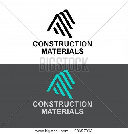 Business Icon - Vector logo design template. Abstract emblem for Construction Materials, building industry construction process, urban architecture, letter A, AA, AAA