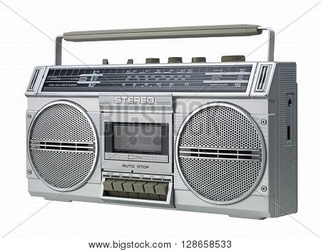 Boom box isolated on a white background