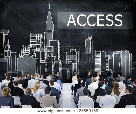 Access Control Entry Password Account Concept