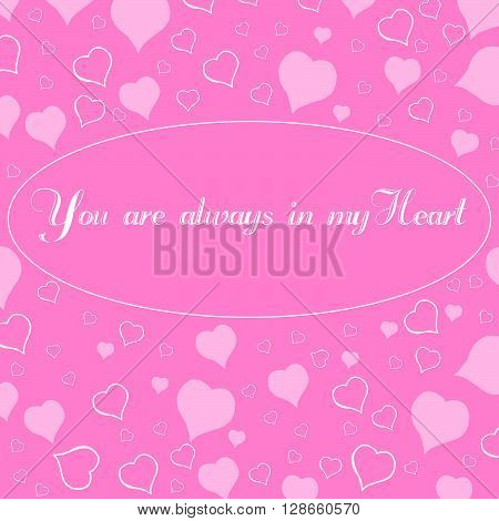 Valentines Day vector abstract background. Vector silhouettes. Love background. Romance and feminine background. Texture. Wallpaper. Greetings card.