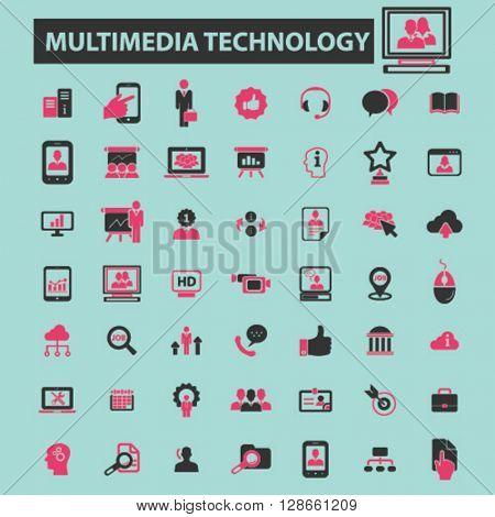 multimedia technology icons
