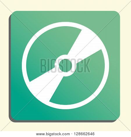 Cd Icon In Vector Format. Premium Quality Cd Symbol. Web Graphic Cd Sign On Green Light Background.