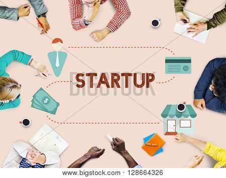 New Business Start up Fresh Ideas Vision Concept