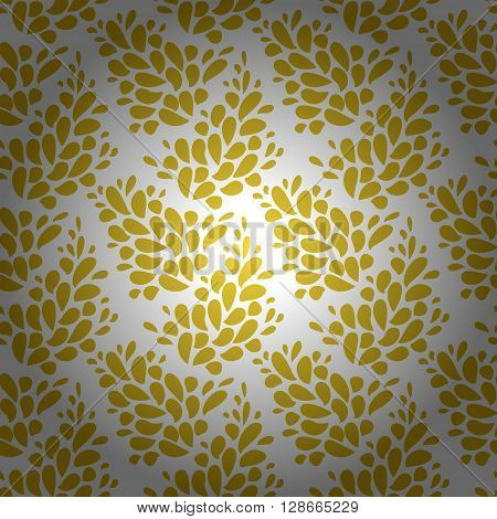 Gold silver foil abstract flourish vector seamless pattern. Gold foil and silver modern chic gold silver vector background design. Repeating seamless floral pattern spring background design concept.