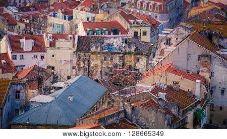 Abandon buildings in the city of  lisbon