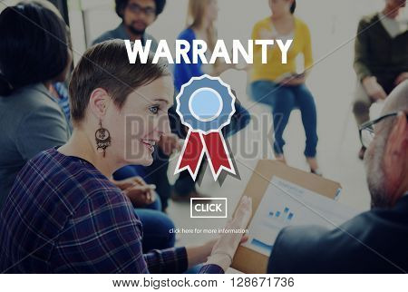 Warranty Guarantee Guaranty Quality Certificate Concept