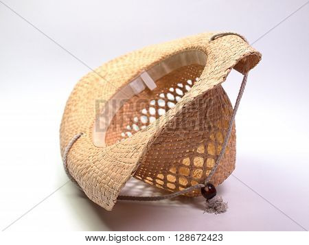Brown hat Wide Brim Straw Hat. The beauty.