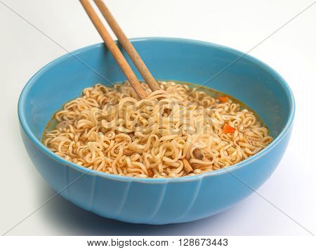 instant  noodles isolated on white background. fast food.