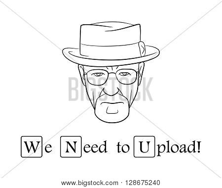We need to upload.Vector illustration. EPS 10. No transparency. No gradients.