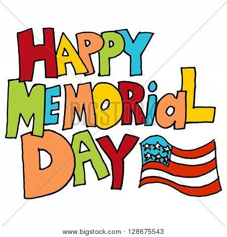 An image of a happy memorial day in message.