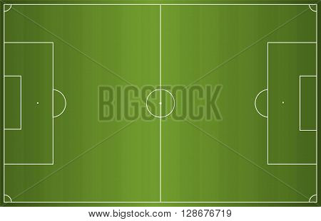 Green football soccer field. Vector illustration background vertical position