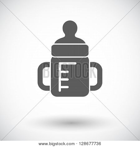 Feeding bottle icon. Thin line flat vector related icon for web and mobile applications.