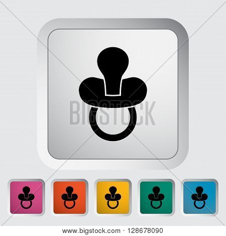 Nipple icon. Flat vector related icon for web and mobile applications.