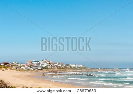 KNYSNA SOUTH AFRICA - MARCH 3 2016: A view of Buffelsbaai (Buffalo Bay) a small town in the Knysna municipal area