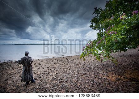 Sierra Leone, West Africa - June 2, 2013: the beaches of the Bunce Island, situated in Freetown Harbour