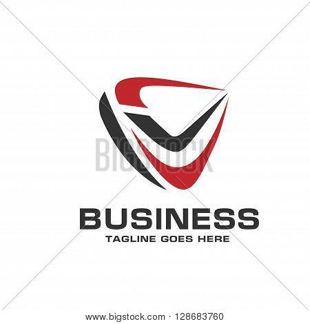 sport abstract symbol. okay. right logo vector