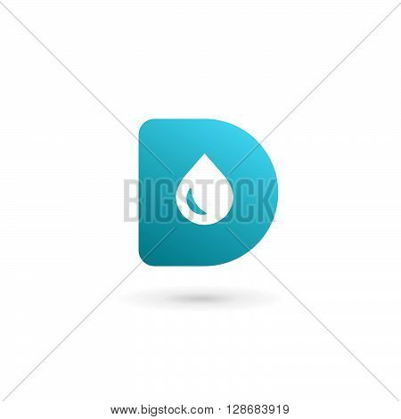Letter D Water Drop Logo Icon Design Template Elements