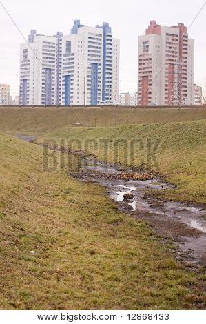 parched river