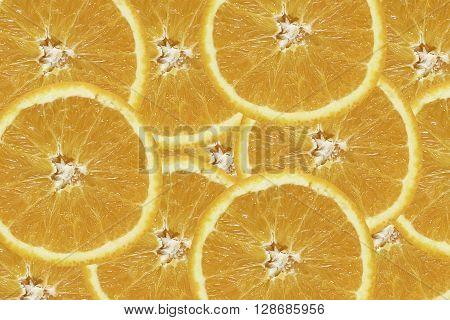 fresh orange orange background Slices of orange