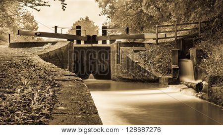 Canal Locks on the Shropshire Union Canal, Audlem