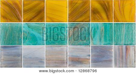 palette of a color glass tiles