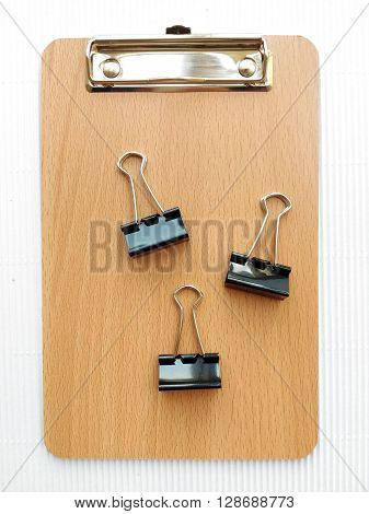 Writing board and paper clip for business