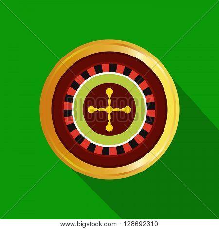 flat poker table. Stock vector. Vector illustration.
