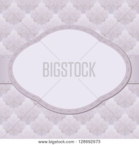 vintage background with decorative pattern and frame