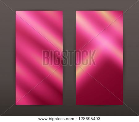 Blurry Pink Vertical Banner Set Back Front Presentation