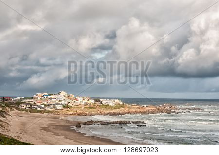 KNYSNA SOUTH AFRICA - MARCH 3 2016: A view of Buffelsbaai (Buffalo Bay) a small town in the Knysna municipal area