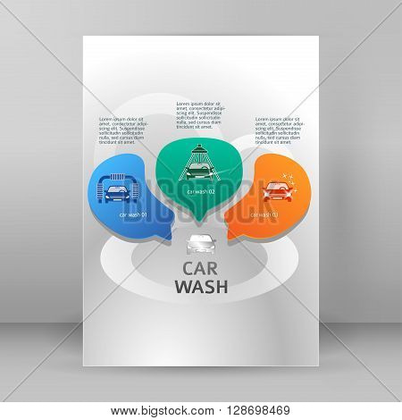 Car Wash Services Flyer A4 Brochure Layout