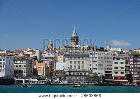 Karakoy And Galata Tower In Istanbul