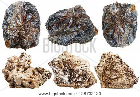 Set Of Astrophyllite And Lamprophyllite Rocks