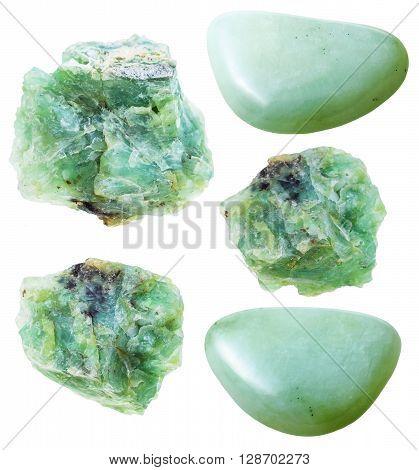 Set Of Green Opal Natural Gemstones