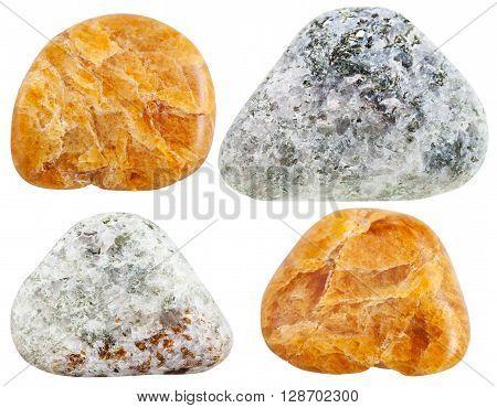 Set Of Various Humite Natural Gemstones