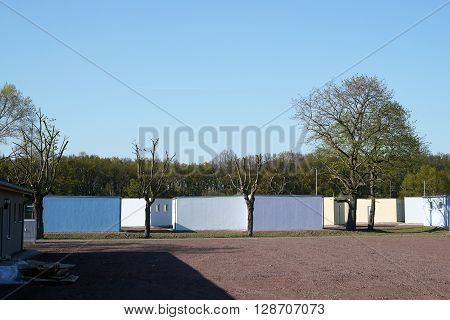 Refugee shelters on the outskirts of Magdeburg