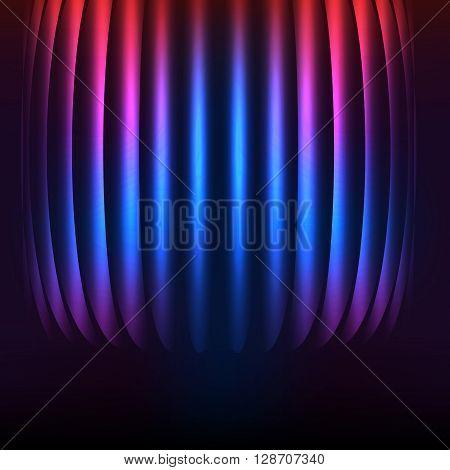 Glowing Purple Lines Deep Background Presentation