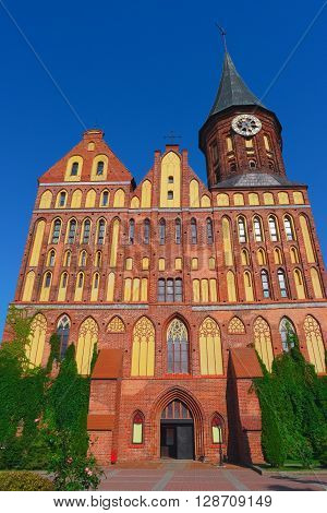 Gothic cathedral in Kaliningrad, Russia, formerly Koenigsberg, Germany