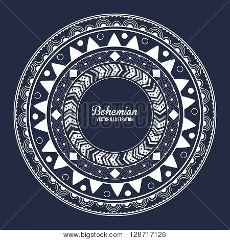 Bohemian concept with icon design, vector illustration 10 eps graphic.