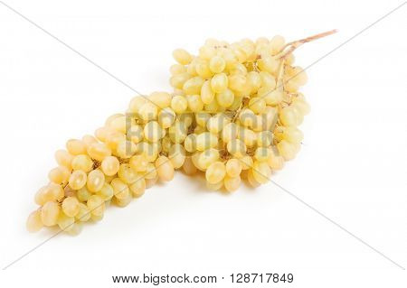 a large bunch of grapes on a white background