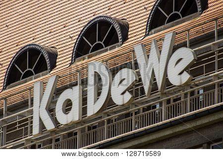 The Emblem / Logo Of The Kadewe ( Kaufhaus Des Westens) In Berlin